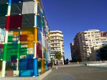 Sikt av byggande av Pompidou Royaltyfri Foto
