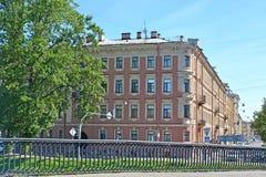Sikt av byggnaden som där bodde i poeten Alexander Blok St Petersburg Arkivbilder
