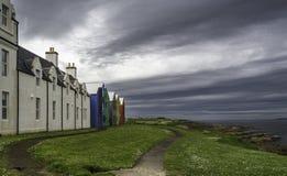 Sikt av byggnader för gryn för John nolla-` Royaltyfri Foto