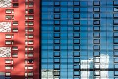 sikt av byggnader i New York royaltyfria bilder