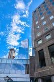 Sikt av byggnader nya USA york Arkivfoto