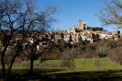 Sikt av byn av ageren Royaltyfria Bilder