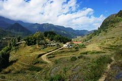 Sikt av byn av Catcat, Vietnam Arkivbilder