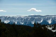 Sikt av Cadibergskedja från Naturlandia arkivbild