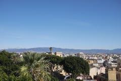 Sikt av Cagliari arkivbilder