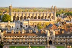 Sikt av Cambridges högskolor Arkivbild