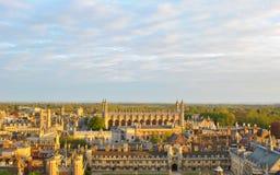 Sikt av Cambridges högskolor Royaltyfri Fotografi