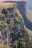 Sikt av Canion Fortaleza - Serra Geral National Park Royaltyfria Foton