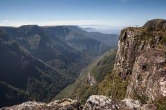 Sikt av Canion Fortaleza - Serra Geral National Park Arkivfoton