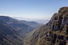 Sikt av Canion Fortaleza - Serra Geral National Park Arkivbilder