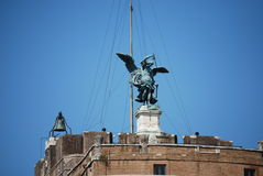 Sikt av Castel Sant Angelo i Rome, Italien royaltyfri fotografi