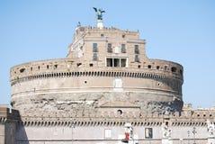 Sikt av Castel Sant Angelo i Rome, Italien arkivfoto