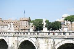 Sikt av Castel Sant Angelo i Rome, Italien arkivbilder