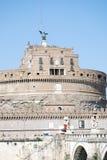 Sikt av Castel Sant Angelo i Rome, Italien royaltyfri foto