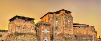 Sikt av Castel Sismondo i Rimini Royaltyfri Fotografi