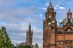 Sikt av centrala Glasgow i Skottland Royaltyfri Bild