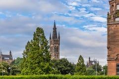 Sikt av centrala Glasgow i Skottland Arkivfoto