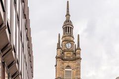 Sikt av centrala Glasgow i Skottland Arkivbilder