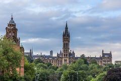 Sikt av centrala Glasgow i Skottland Royaltyfria Bilder