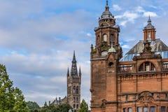 Sikt av centrala Glasgow i Skottland Royaltyfri Fotografi