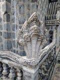 Sikt av centrala kambodjanska bygd och tempel Arkivfoto