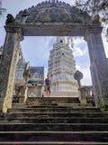 Sikt av centrala kambodjanska bygd och tempel Royaltyfri Bild