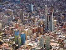 Sikt av centret av Bogota, Colombia Arkivbilder