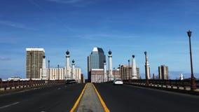 Sikt av centret av Springfield, Massachusetts royaltyfri bild