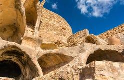 Sikt av Chenini, en stärkt Berberby i södra Tunisien Arkivfoton