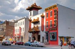 Sikt av chinatown Arkivfoton