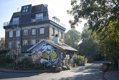 Sikt av Christiania byggnader royaltyfri bild