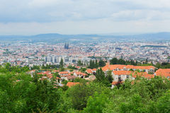 Sikt av Clermont-Ferrand i Auvergne, Frankrike Royaltyfri Foto