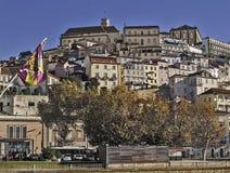 Sikt av Coimbra Arkivbild