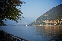 Sikt av comoen, Italien Arkivfoton