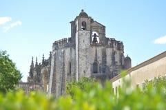 Sikt av Convento de Cristo Arkivfoto