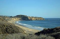 Sikt av Crystal Cove State Park, sydliga Kalifornien Arkivbilder