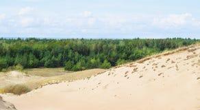 Sikt av döda dyn, Nida, Klaipeda, Litauen Fotografering för Bildbyråer