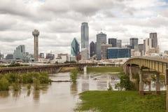 Sikt av Dallas Downtown Arkivfoto
