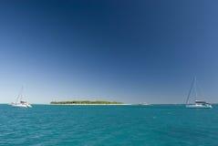 Sikt av damen Musgrave Island i Australien Arkivfoton