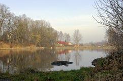 Sikt av dammet Fotografering för Bildbyråer