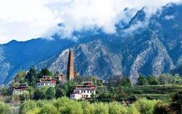 Sikt av Danba, Sichuan 3 Royaltyfri Foto