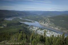 Sikt av Dawson City Royaltyfri Bild