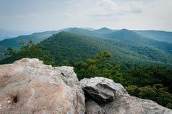Sikt av de Appalachian bergen från Duncan Knob, George Washi Royaltyfria Bilder
