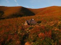 Sikt av de Carpathian bergen Fotografering för Bildbyråer