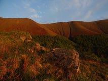 Sikt av de Carpathian bergen Royaltyfria Bilder