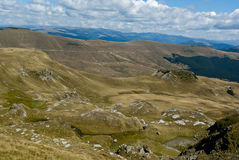 Sikt av de Carpathian bergen Arkivbilder
