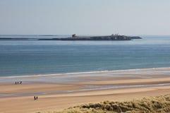 Sikt av de Farne öarna, Northumberland fotografering för bildbyråer