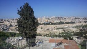 Sikt av de heliga ställena av Jerusalem royaltyfria foton