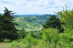 Sikt av de Kaukasus bergen, Abchazien Arkivbild