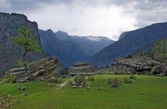 Sikt av de turkiska bergen Royaltyfria Foton